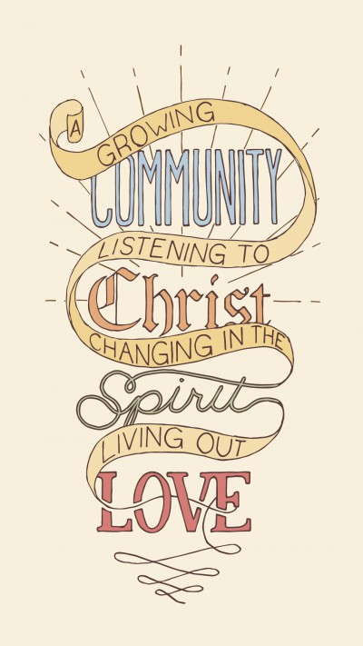 Newberg Friends Church vision statement lettering