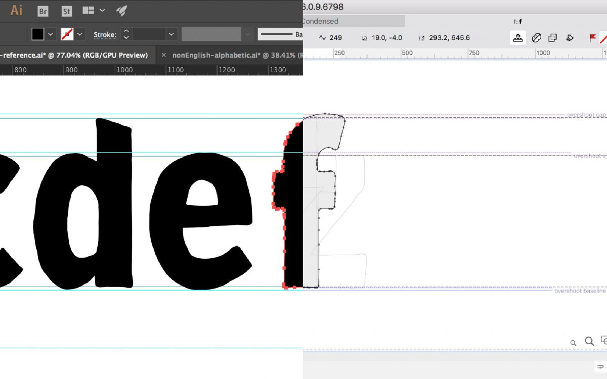 Taking glyphs from Adobe Illustrator to FontLab Studio VI