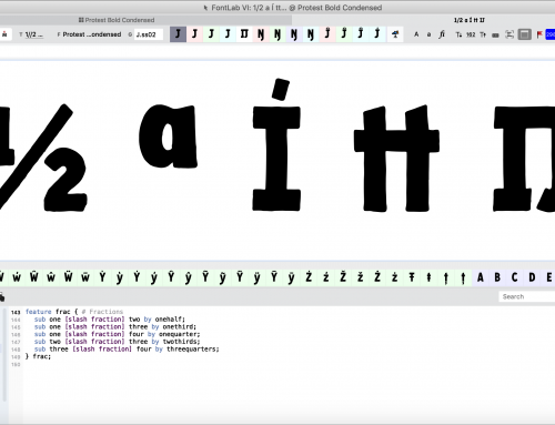 Adding OpenType Features in FontLab VI, Part 3: Housekeeping