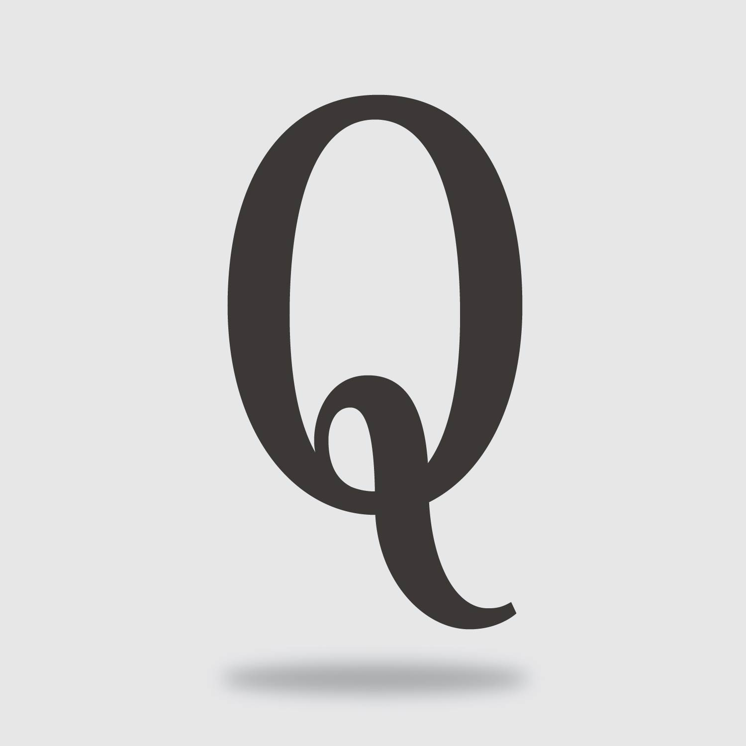 floating condensed letter Q