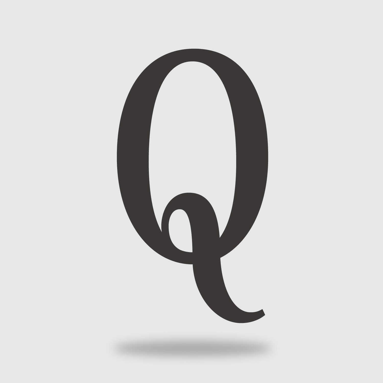 floating condensed letter Q